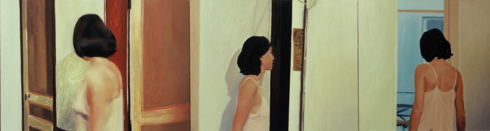 Untitled , 1999, oil on canvas, 96 x 380cm (triptych). Private collection, France