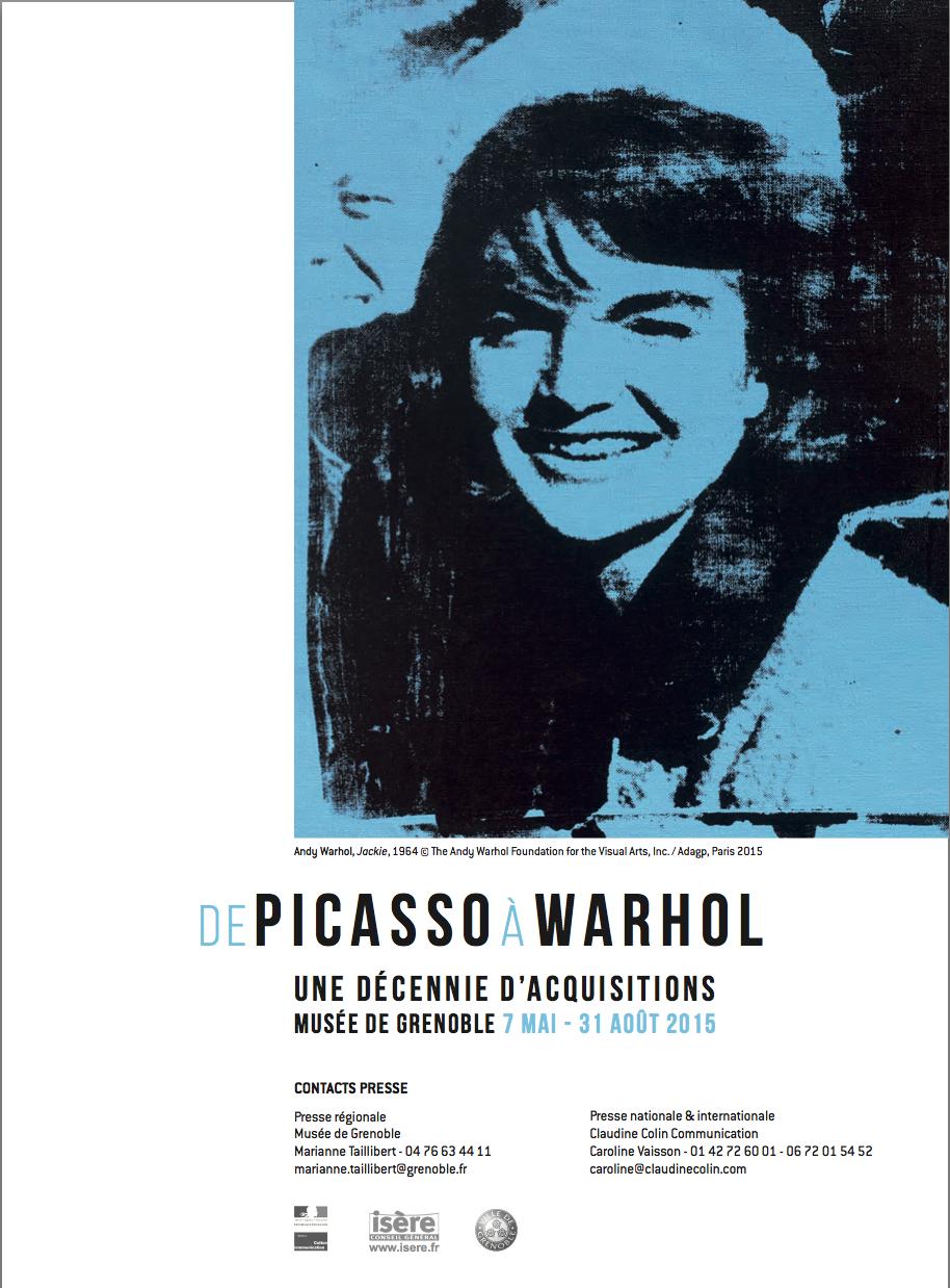 De Picasso à Warhol , Une Décennie d'Acquisitions, Musée de Grenoble (FR)2015. Curator Guy Tosatto.
