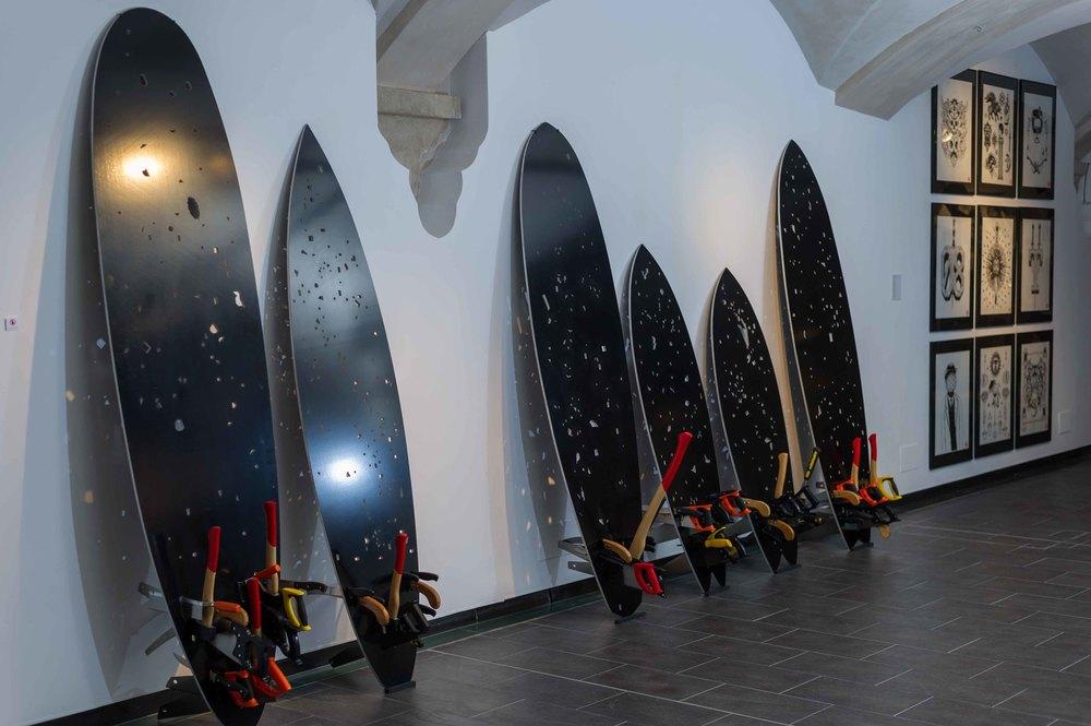 Ski, Surf and Fun ,Fondation Salomon, Espace d'Art Contemporain l'Abbaye,Annecy-le-Vieux (FR)2016