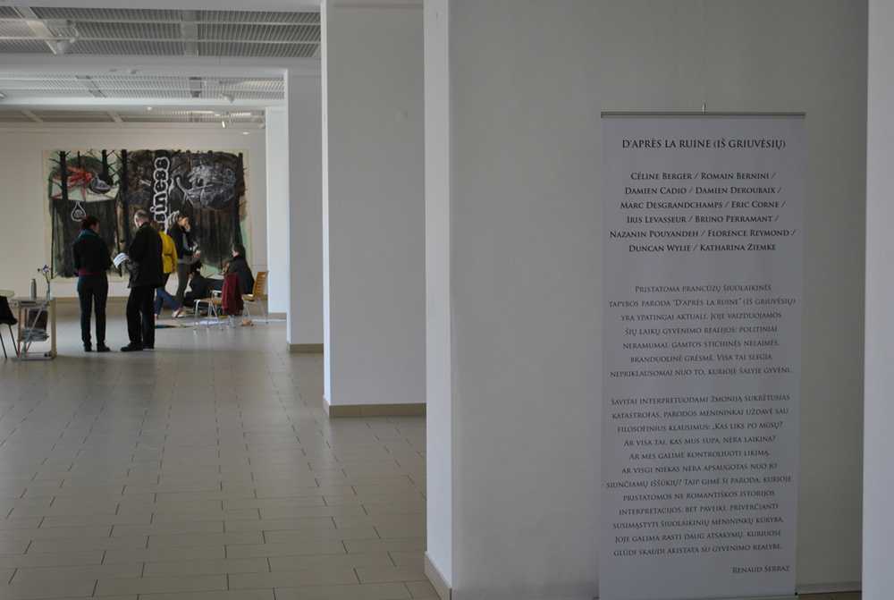 D'après la ruine, Titanic Rooms,Academy of Fine-Arts,Vilnius (LH). Curator Renaud Serraz.Artists in view : Damien Deroubaix