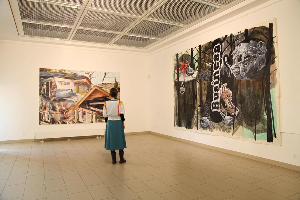 D'après la ruine,  Titanic Rooms,Academy of Fine-Arts,Vilnius (LH). Curator Renaud Serraz.Artists in view : Duncan Wylie, Damien Deroubaix