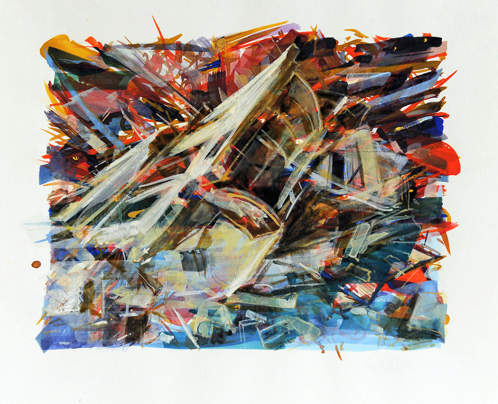 Untitled , 2009, gouache and watercolour on paper, 26 x 32 cm. Private collection, France