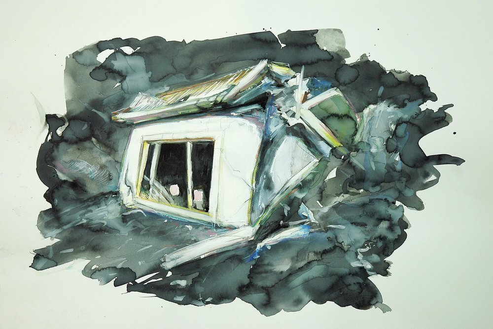 Nighthouse,  2009, watercolour and goache on paper, 65 x 100cm.