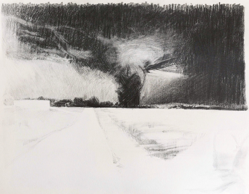 Catalyst , 2013, pencil on paper, 30 x 40 cm. Private collection, France