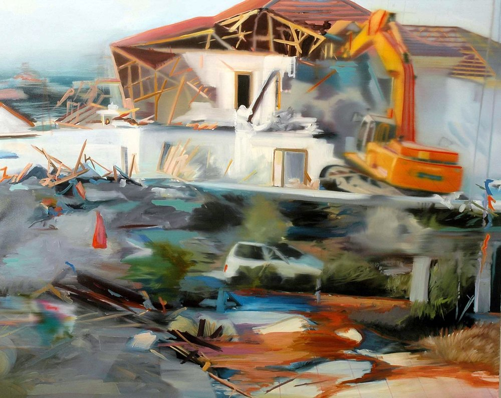 Gaza 3 , 2006, oil on canvas, 120 x 150cm. Private collection, France