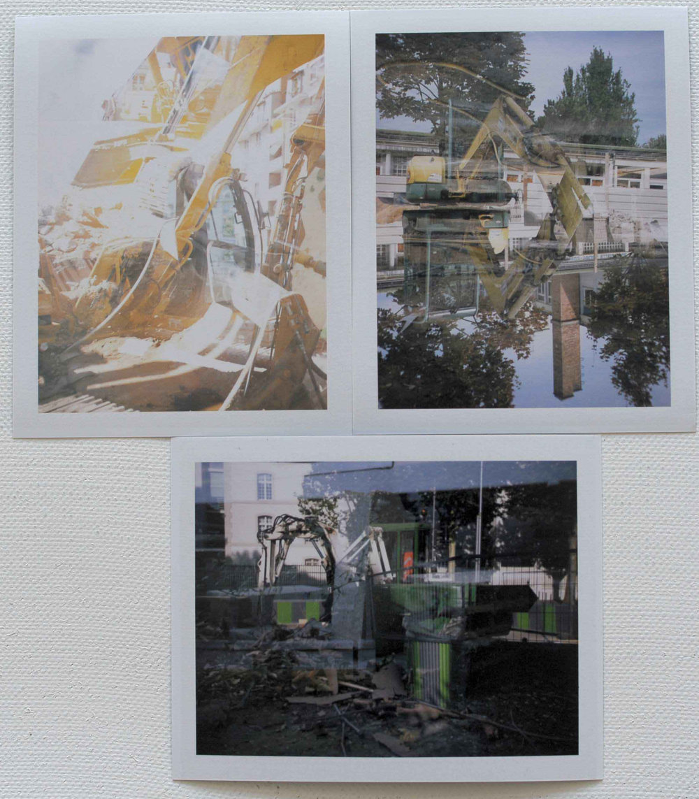 Two images intersect , Paris 2009, polaroid film. Archival inkjet print edition of three