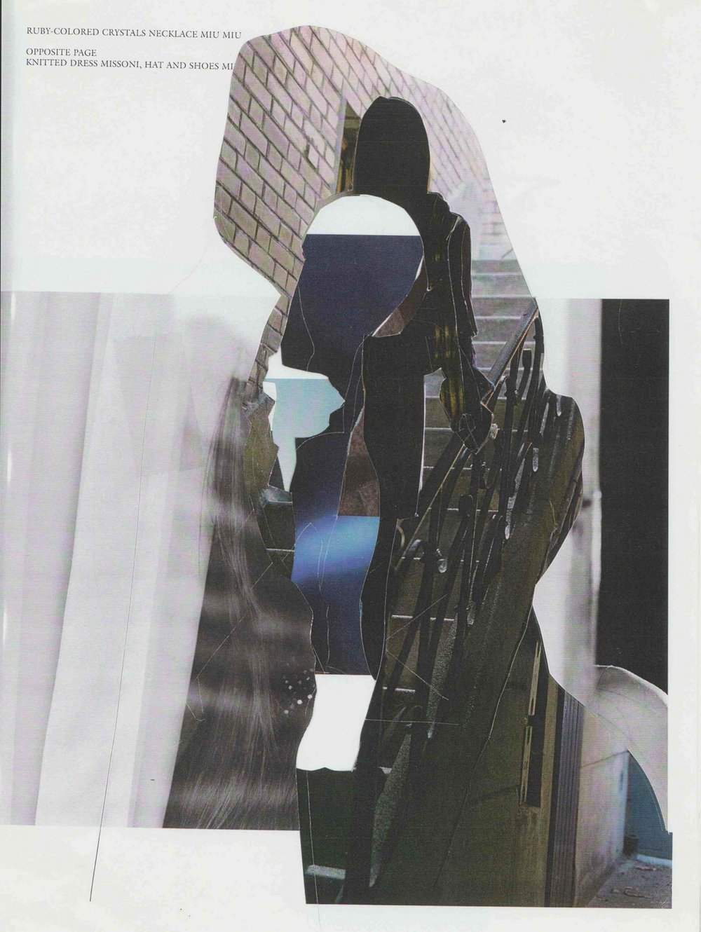 Scalpel drawings   (cutting through images),  2004.