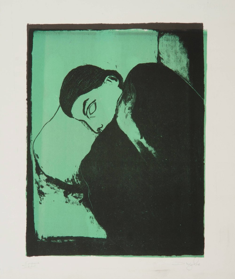Sleeper , 1997, lithography, 65 x 50cm. Franz Masereel Centrum Collection, Netherlands