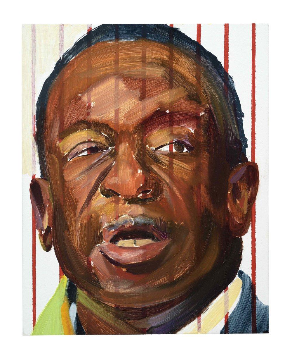 The new president(Crocodile), 2018, oil on wood, 25x20cm