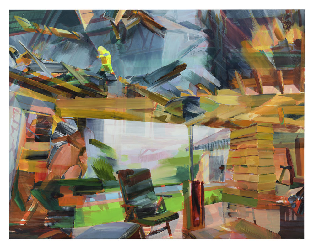 Undercurrent (Johannesburg/London) , 2018, oil on canvas, 220x171cm