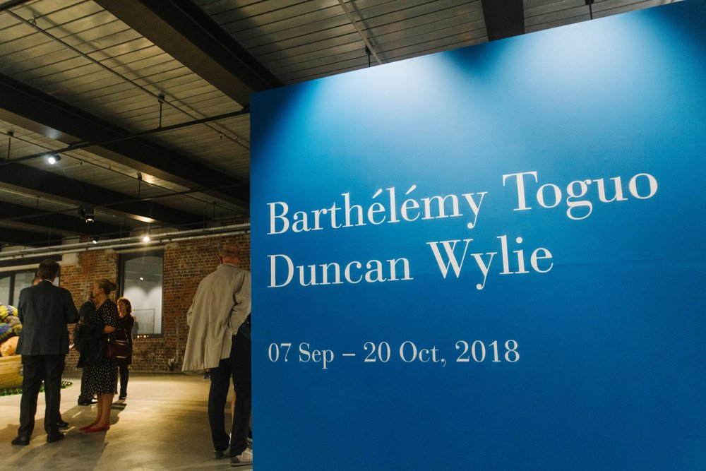 About the World , Barthélémy Toguo - Duncan Wylie, Hangar Arts Centre, Brussels, Sept/Oct 2018, curator Philip Piguet