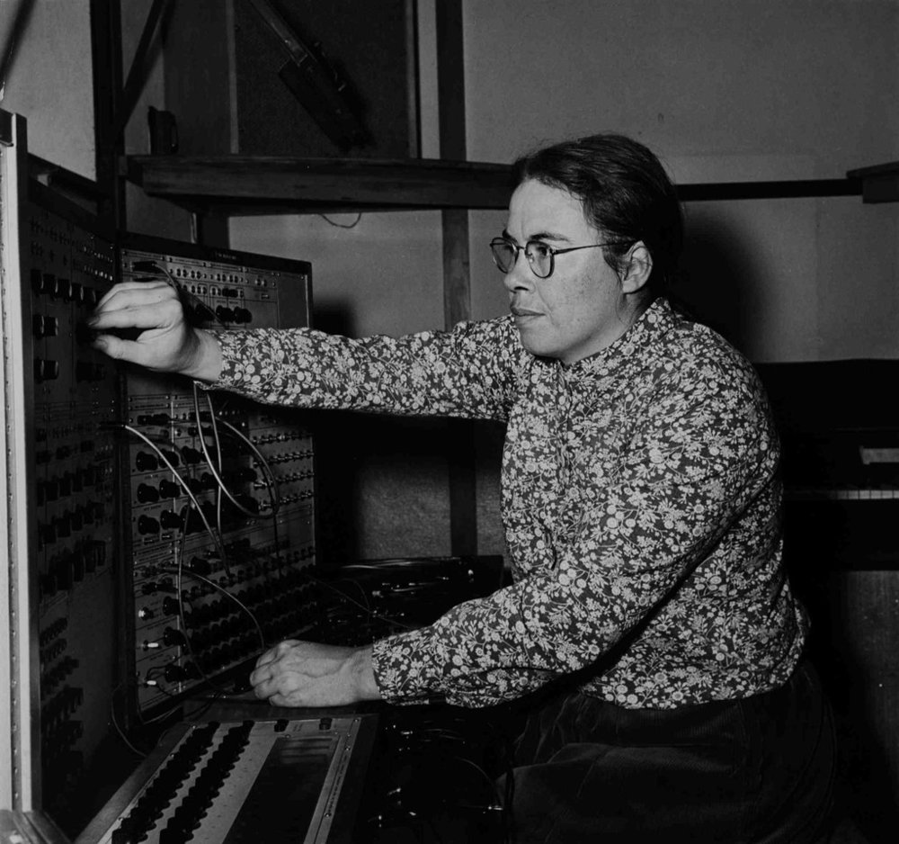 """Pauline Oliveros said that her meditations had a goal of """"expanded consciousness"""" and """"humanitarian purposes; specifically healing.""""  PHOTOGRAPH COURTESY THE CENTER FOR CONTEMPORARY MUSIC ARCHIVES, MILLS COLLEGE published in the New Yorker:https://www.newyorker.com/culture/culture-desk/listening-as-activism-the-sonic-meditations-of-pauline-oliveros"""