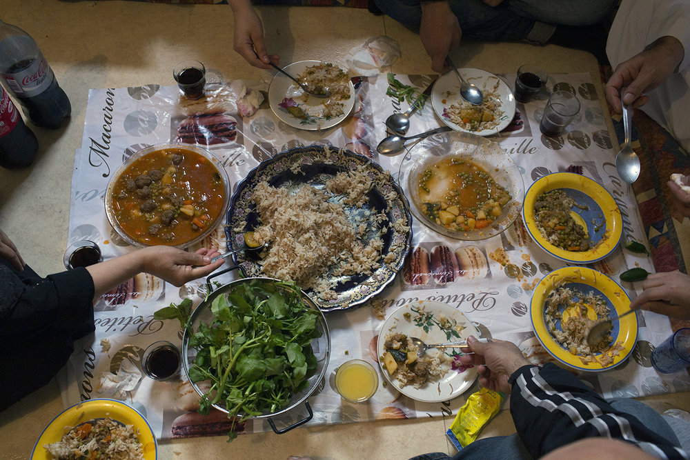 Lunch with the Al Rajab family