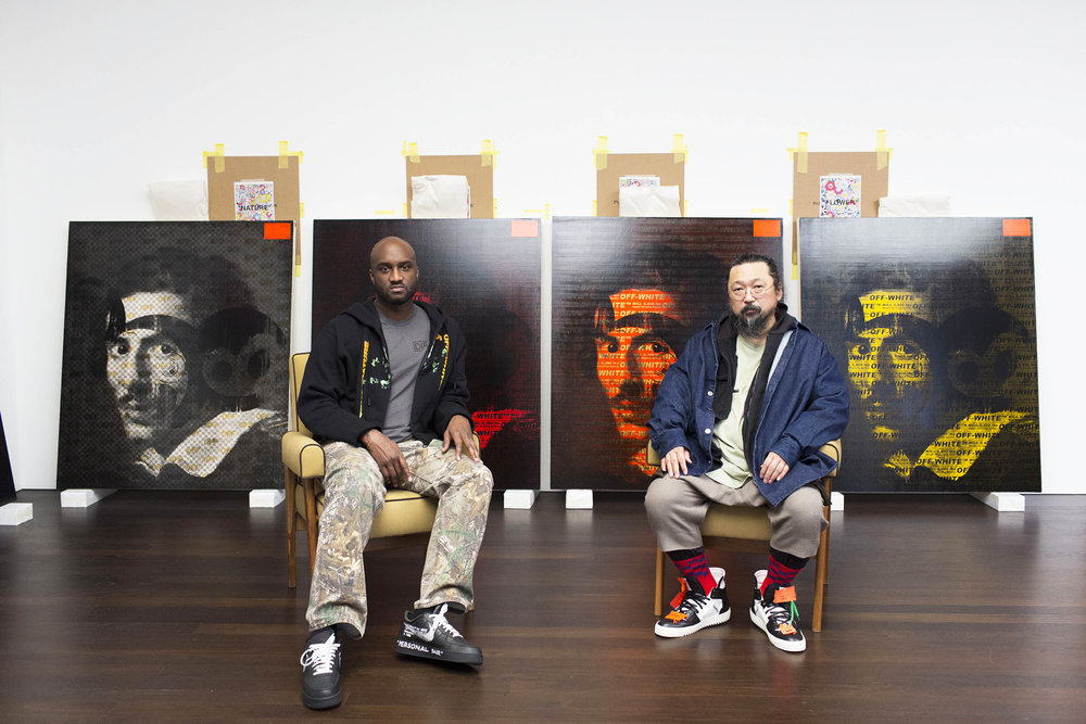 Virgil Abloh and Takashi Murakami