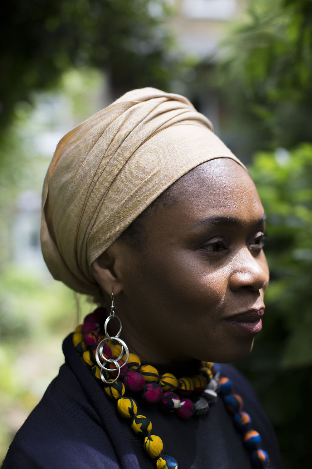 Publisher Bibi Bakare-Yusuf, photographed in London for The New York Times