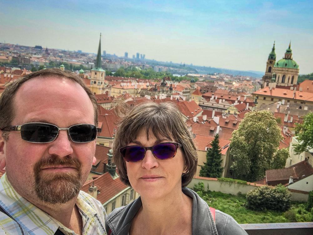Overlooking beautiful Prague in May of 2018.