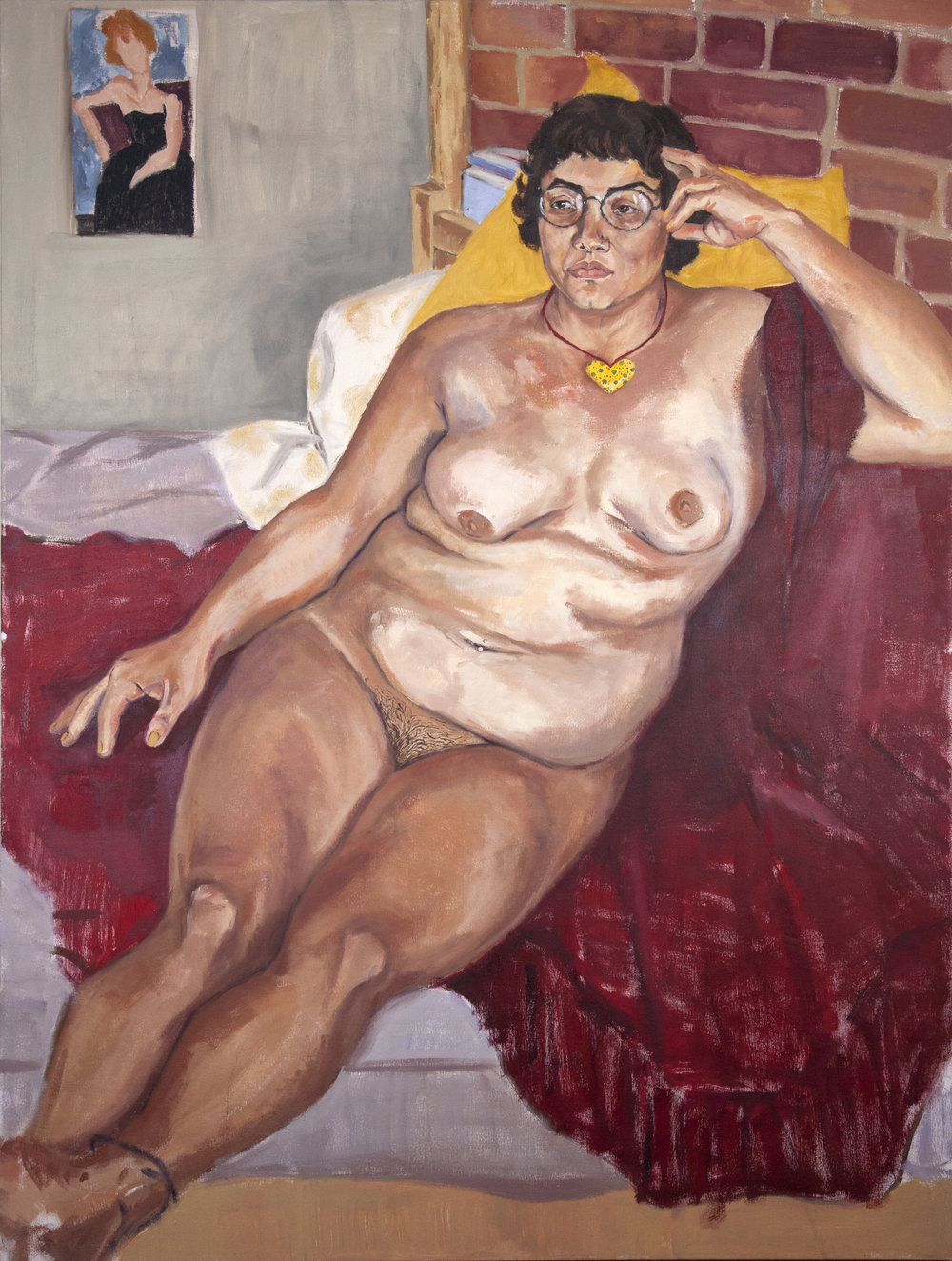 Maya dreams of her return to Mexico   oil on canvas  48x58