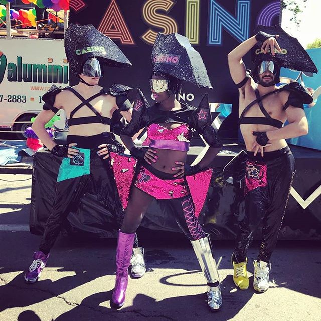 Crazy Outfits by @masterbougaricci @bougaricci  for the Parade!!#fiertemtl #pride #casino #belluscious #gaypride #whacking thx you @belluscious , @casinomontreal and of corse @jessygauthier