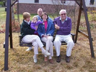 In less then 11 years, my mom, father, and my daughter's father were all deceased. Here we are at Thanksgiving in 2001. [PERSONAL PHOTO]