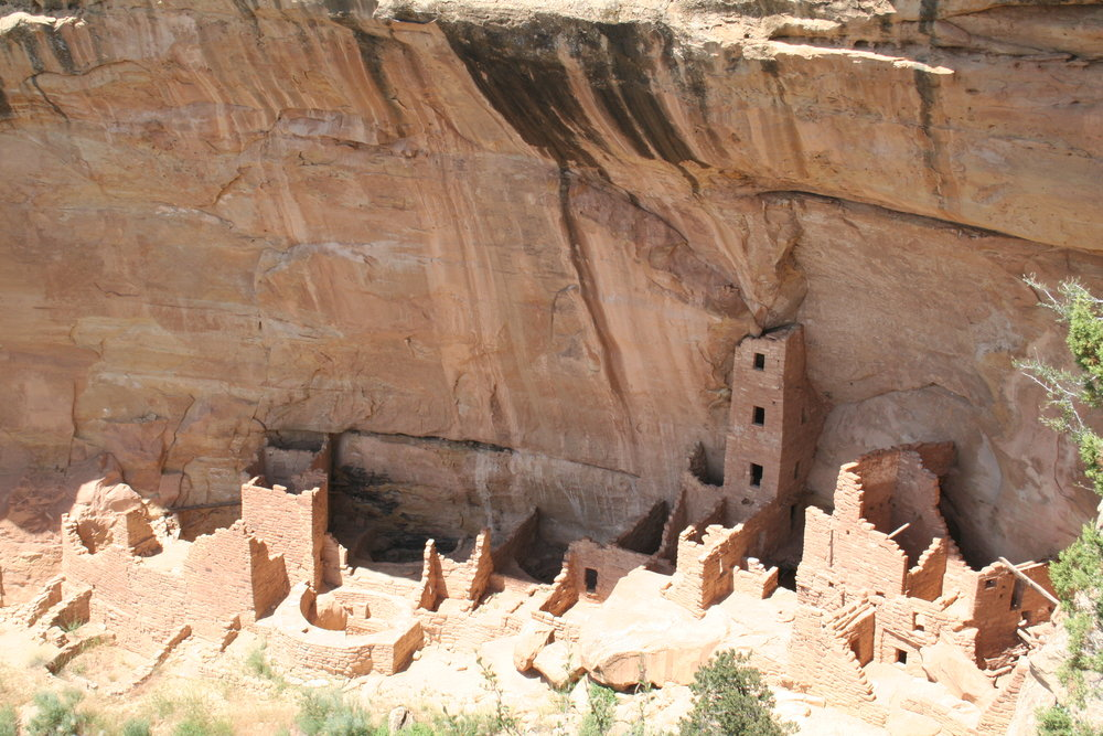 The holy spaces and the hearth spaces, mixed. Mesa Verde, Colorado. Author's own photo.