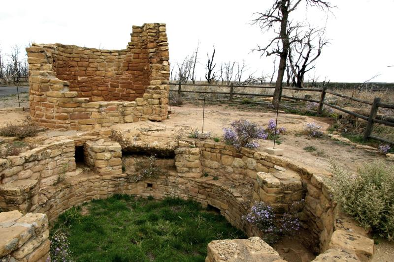from the Pipe Shrine House, Mesa Verde Colorado | compliments of the National Park Service