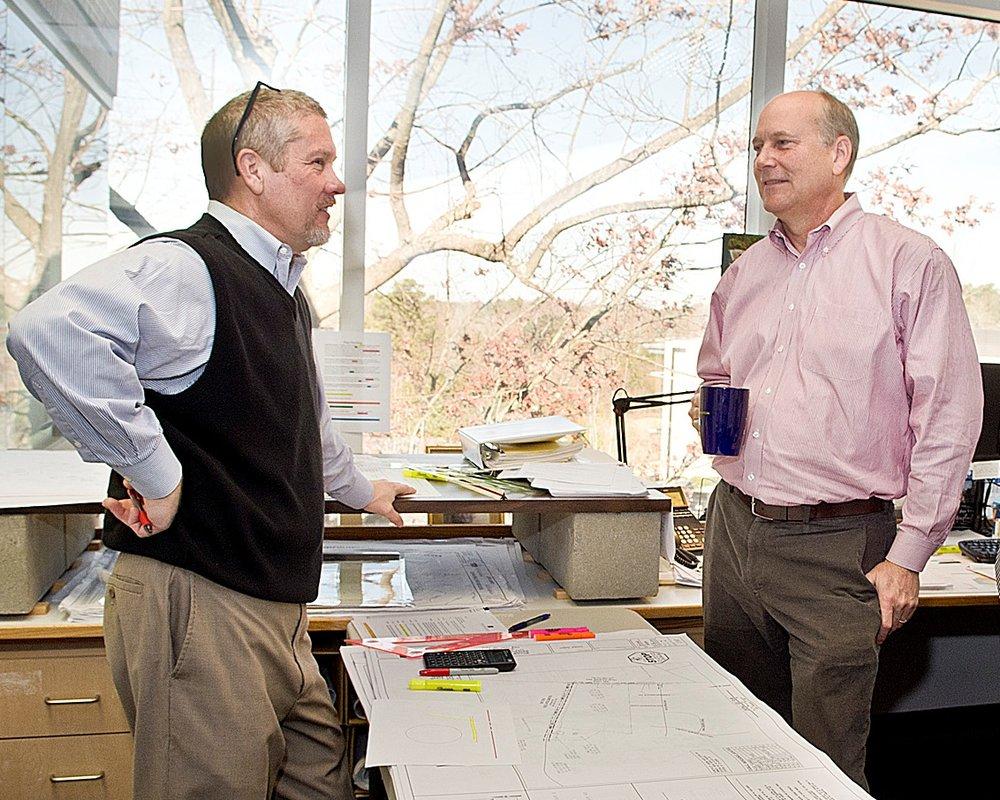 Glenn Zeblo (left) and Ted Bartelt.