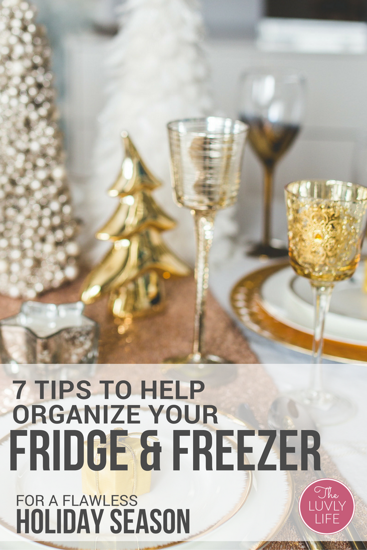 Taking a little bit of time to organize your fridge & freezer can save you time and money when preparing to cook. Enjoy this holiday season a little less stressed with an organized appliance. Click through to read 7 quick tips for organizing your refrigerator & freezer for a flawless holiday season.