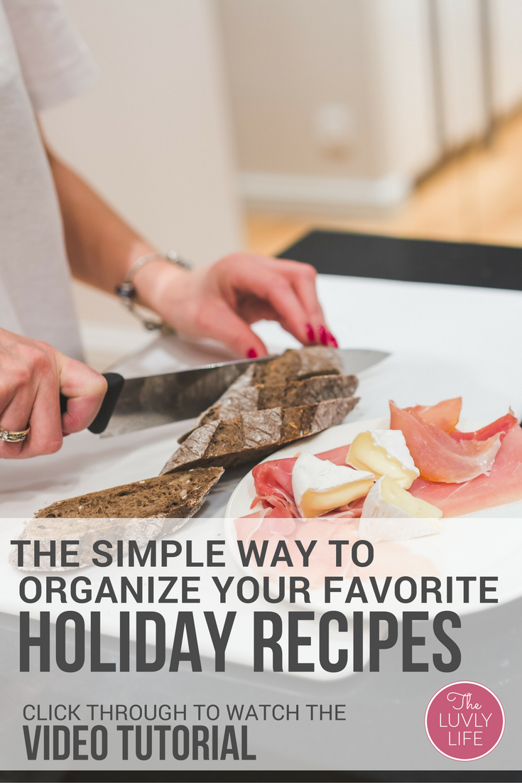 Do you find yourself searching through recipe print-outs to find your favorite holiday meals? Want an easier way to gather and organize your recipes? Click through to watch this video tutorial and never print out another recipe again.