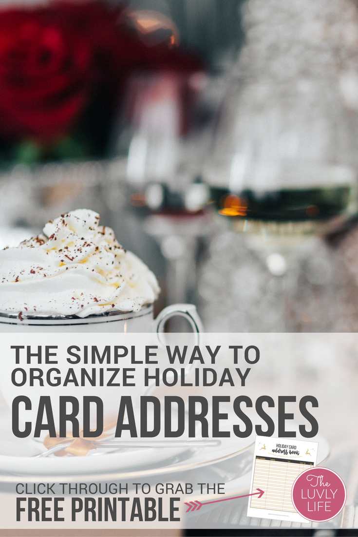 Get organized this holiday season. Write out your holiday card address list once and use it year after year. click through for the free printable holiday card address book.