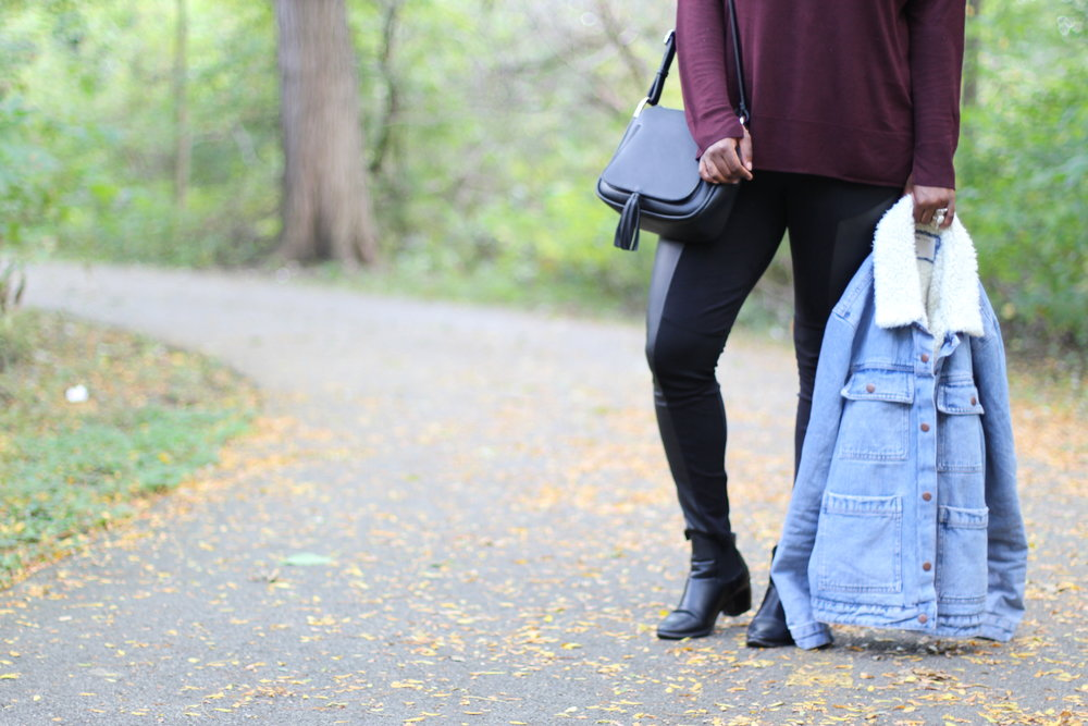Jacket| Asos- Top/Pants/Shoes| H&M- Bag| Marshalls