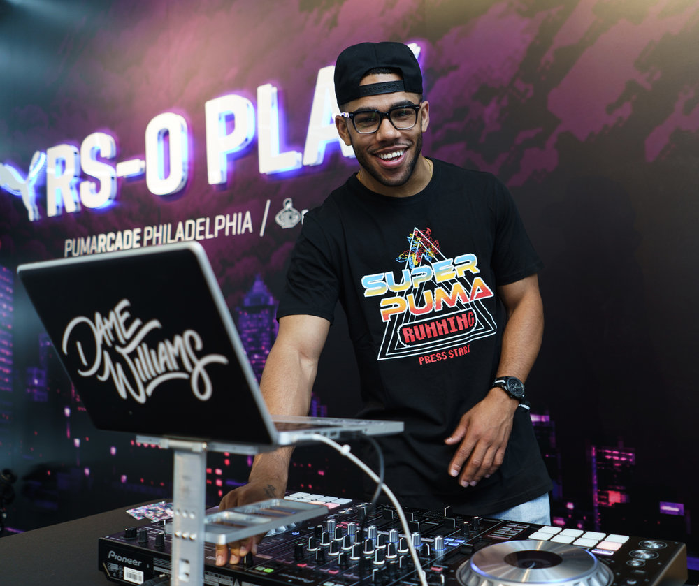 DJ Dame Williams at Foot Locker PumaLab