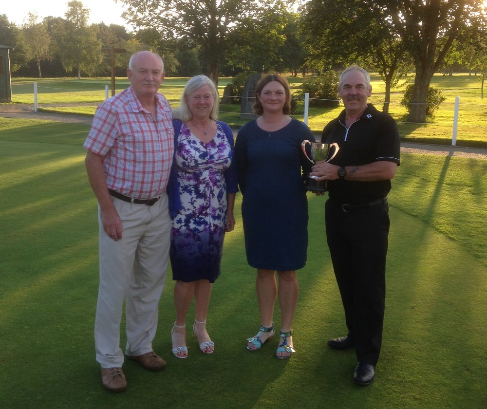 From left: Malcolm & Elsbeth Morton, Sherrie Edwards (Lady Captain), Tony Hill