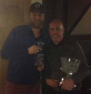 Men's winter league champion Ian Price (right) alongside runner up Matthew Fletcher (left)
