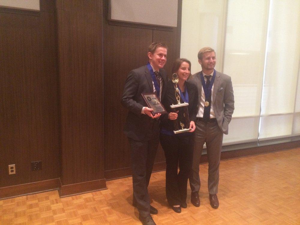 Oklahoma Statewide Student Ethics Challenge 2016 Winner  Oklahoma Christian University - team Aguileras