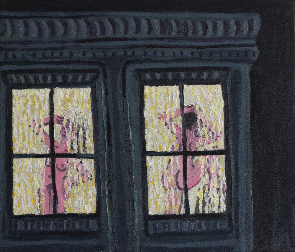 """Window Women  oil on canvas  12""""x14"""""""