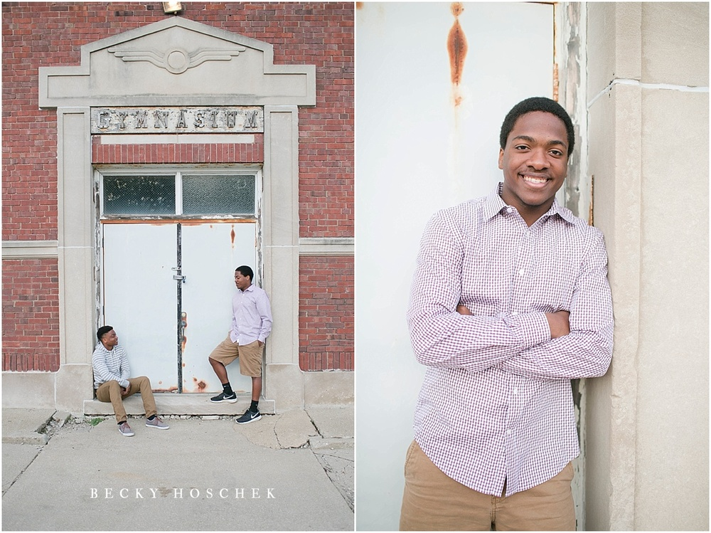 Becky hoschek photography bloomington normal illinois senior photography guy twin brothers