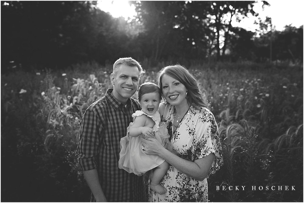 Bloomington IL family baby photographer sunset session