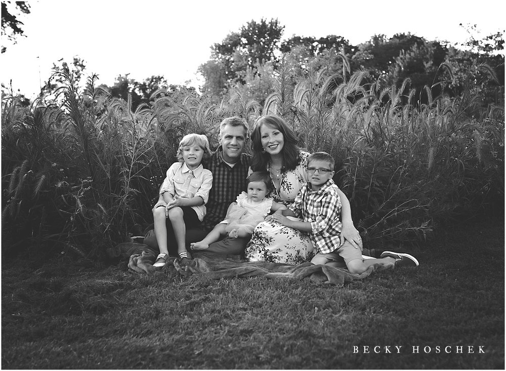 Bloomington IL peoria illinois family photographer sunset session