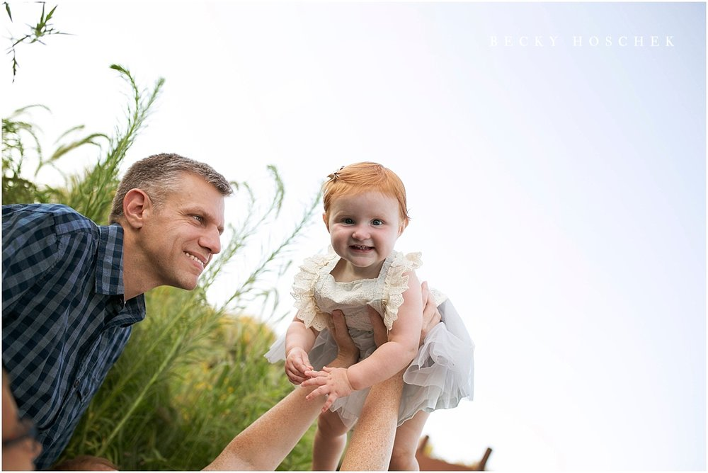 Bloomington IL family photographer baby portrait sunset session