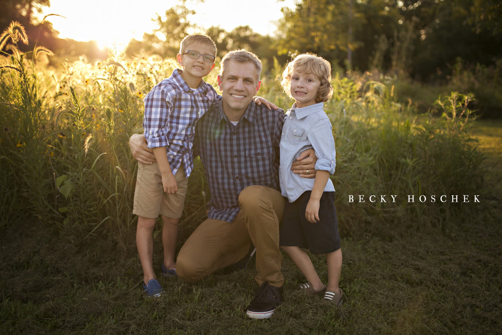 Bloomington Illinois family photographer summer sunset session