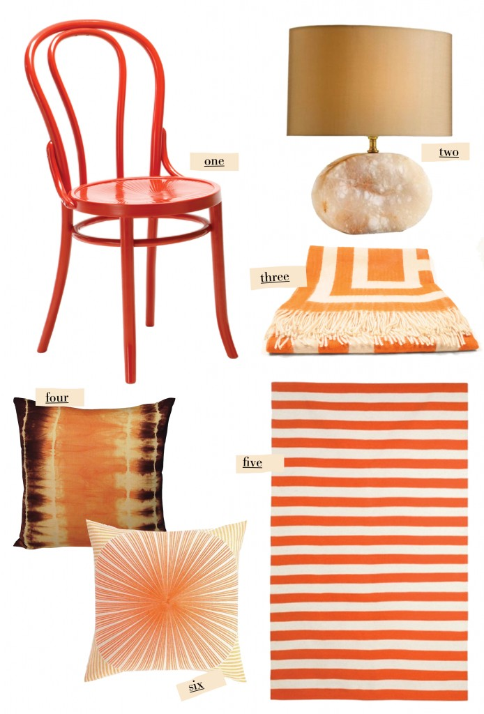 coral pillow throw blanket chair lamp