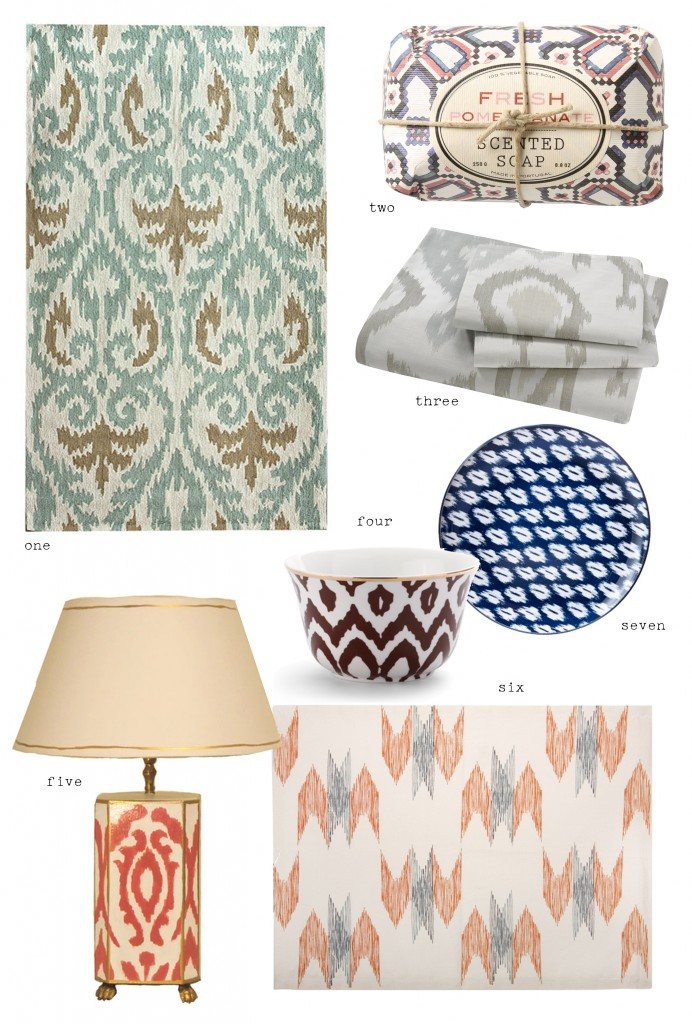 ikat pillow, ikat decor, ikat lamp, ikat dishes, ikat placemat, ikat rug, minneapolis interior designer