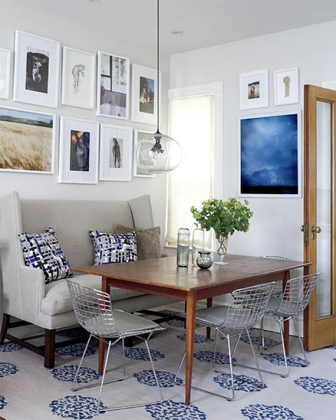 breakfast nook, decorating blog
