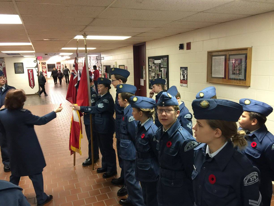 11 November 2016: Last minute instructions before the Remembrance Day Parade.