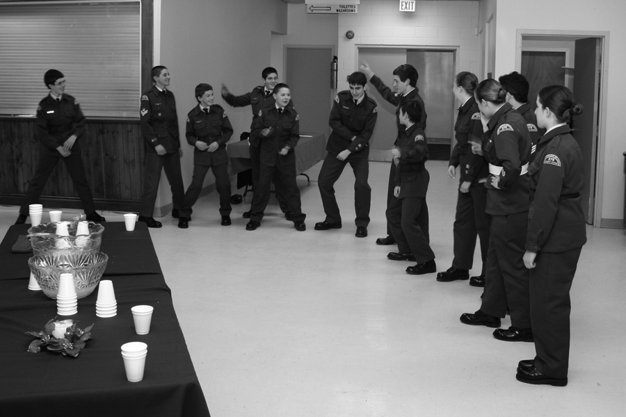 January 2008: Cadets doing a dance during the Mess Dinner.