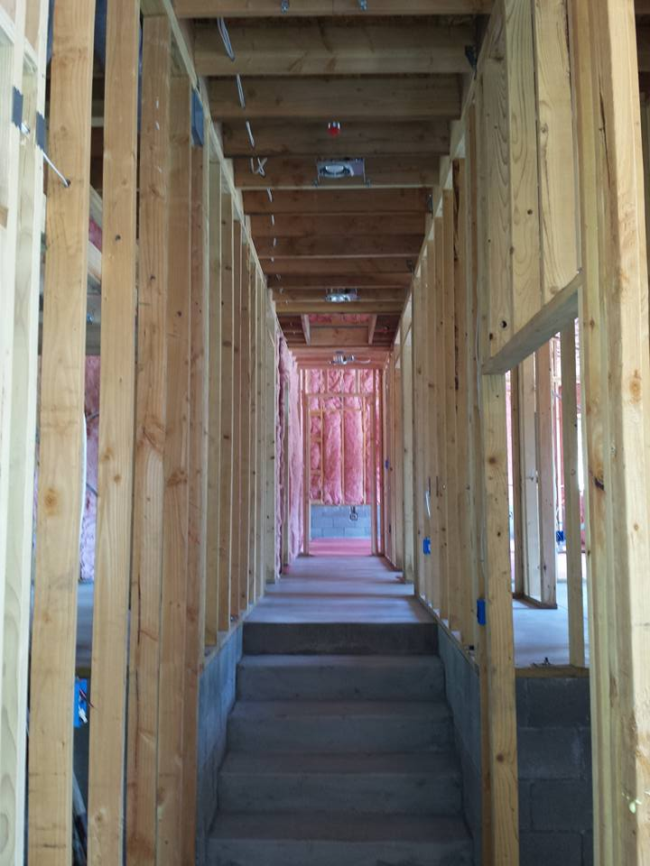 Custom residential home under construction near Flagstaff, Arizona.