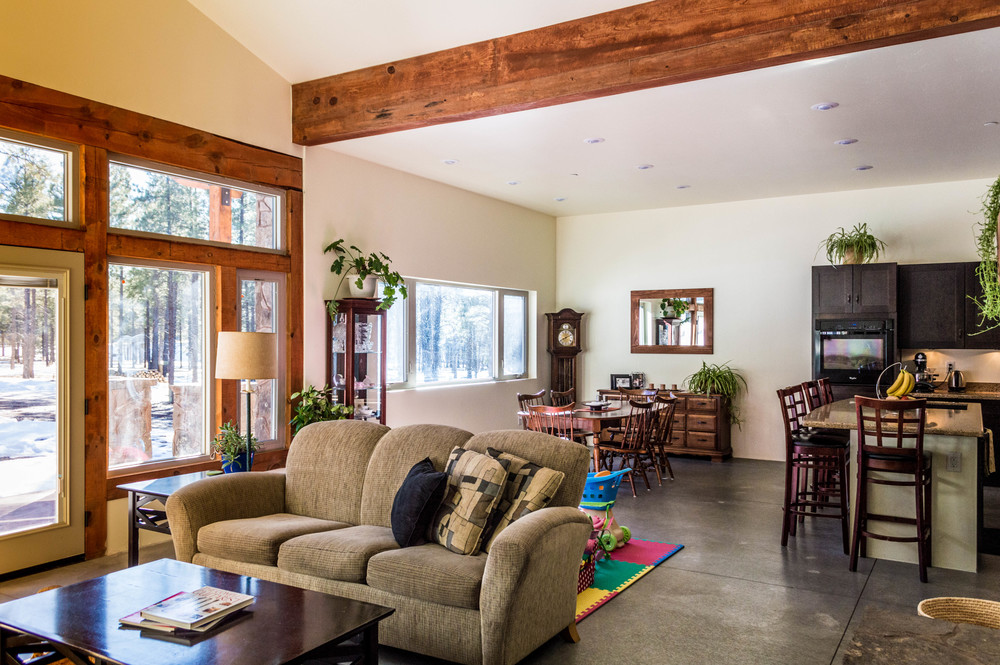 Custom living room in a residential home near Flagstaff, Arizona.