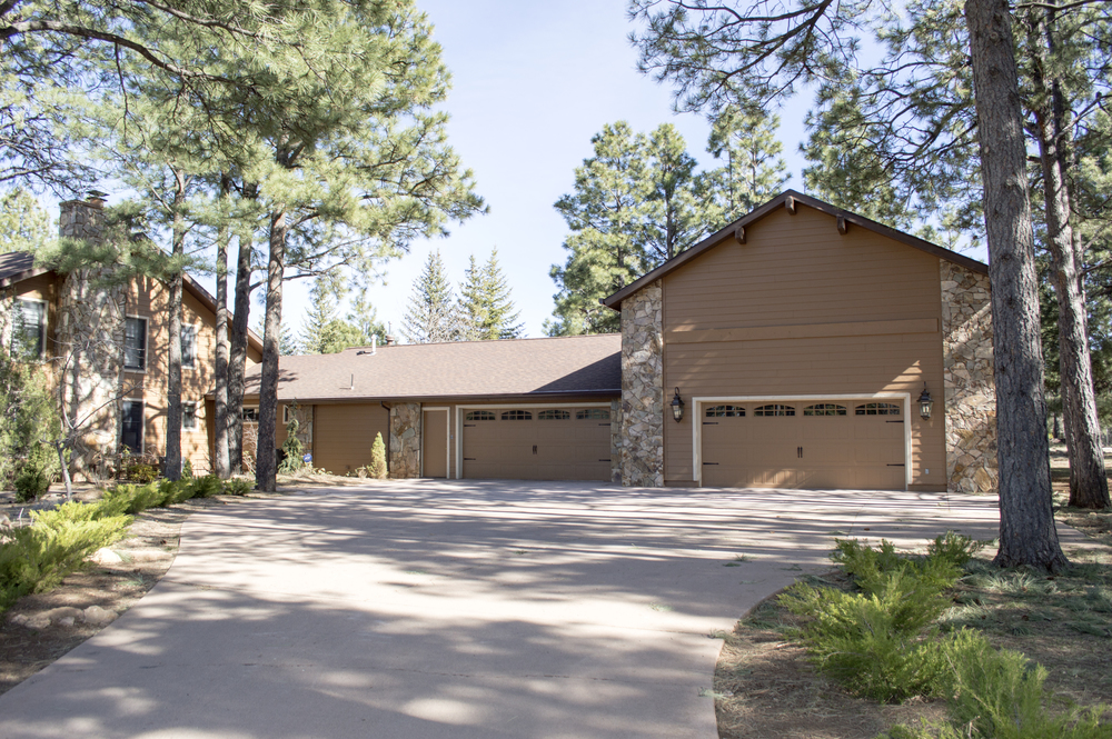 Exterior of a residential home near Flagstaff, Arizona.