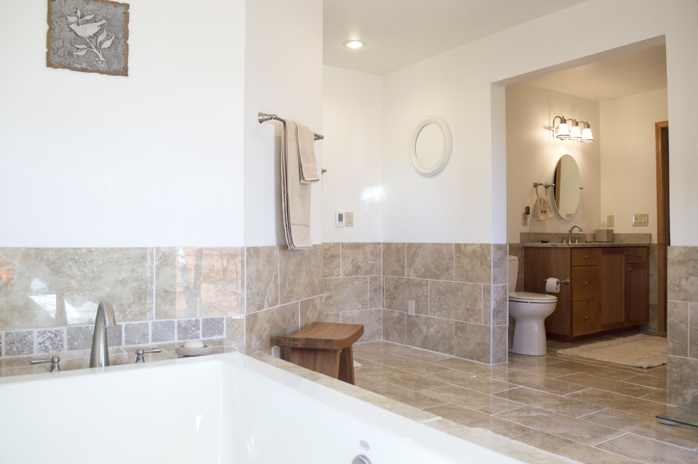 Bathroom remodel of a residential home near Flagstaff, Arizona.