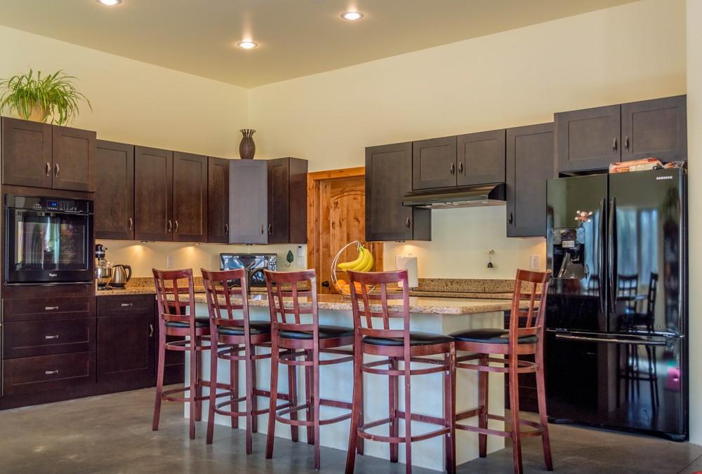 Custom breakfast bar in a residential home near Flagstaff, Arizona.